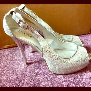 Guess peep-toe stilettos